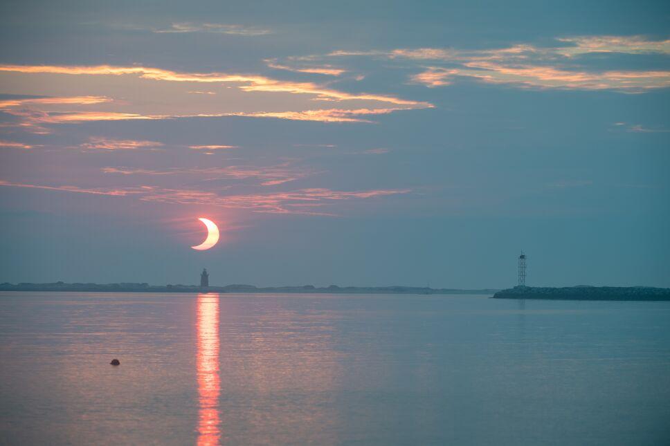 Eclipse solar parcial en Delaware