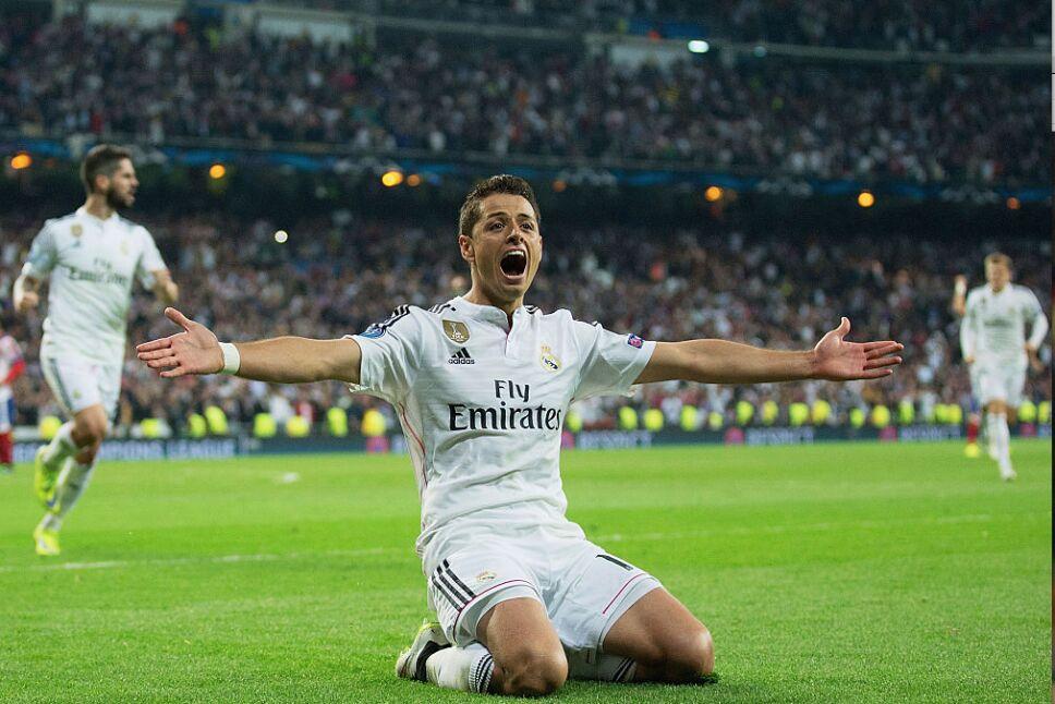 Javier Hernández la rompió en Madrid