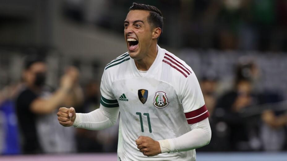 Funes Mori, en un juego de Copa Oro con México