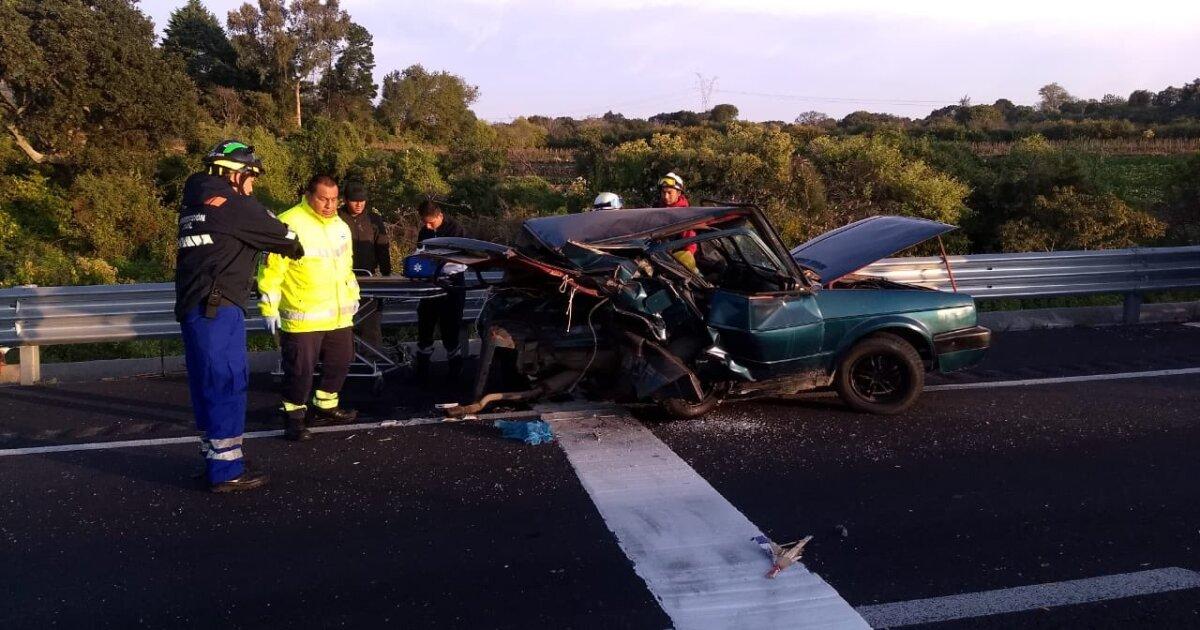 Fuerte accidente en Amecameca deja un muerto y tres heridos - ADN 40