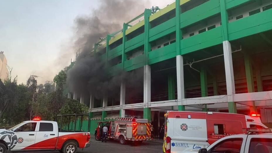 incendio en el nou camp
