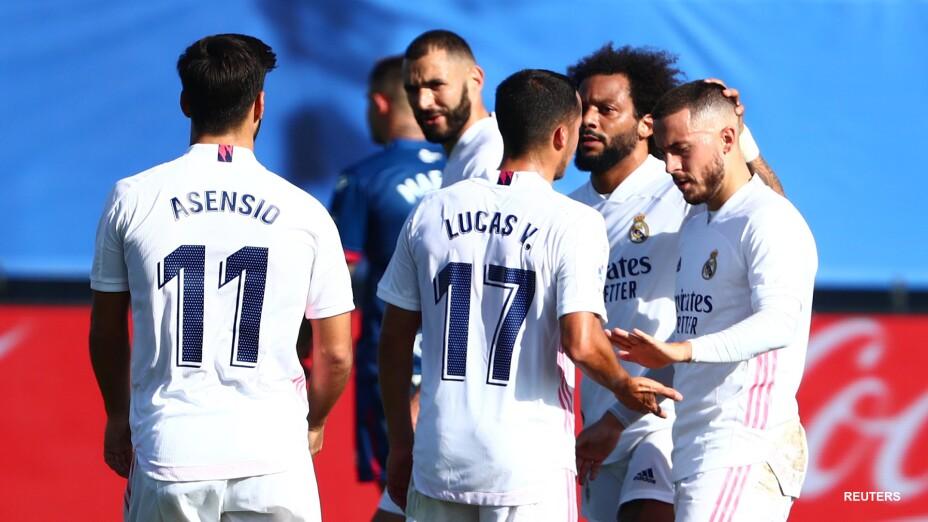 Real Madrid festeja el gol