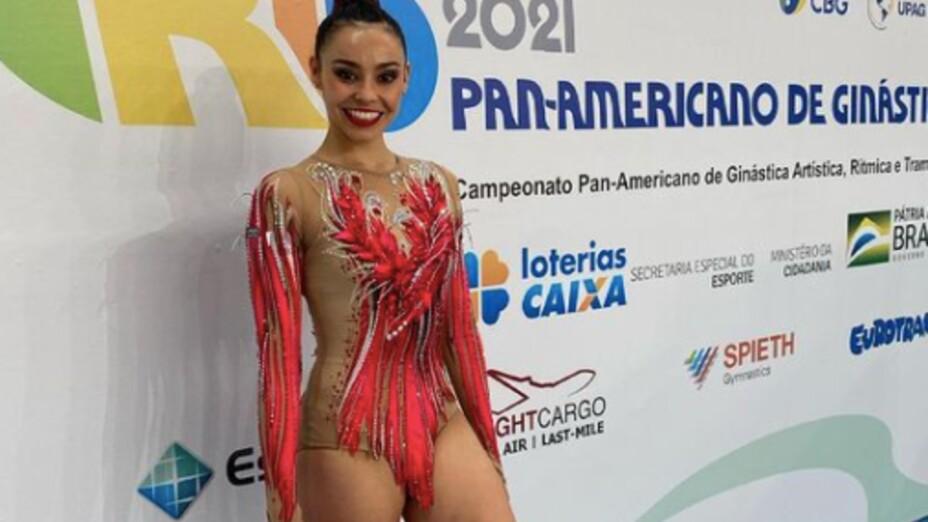Rut Castillo, en el Panamericano de Gimnasia