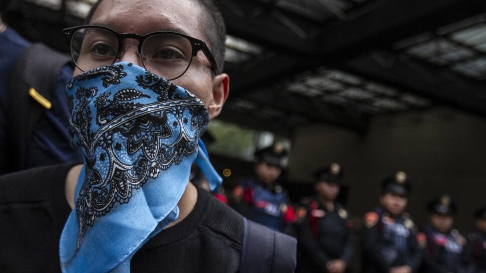 Manifestación  tras el derrame de químicos en el Mar Cortes
