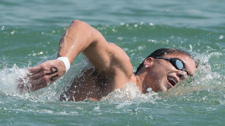 Daniel Delgadillo compite en aguas abiertas