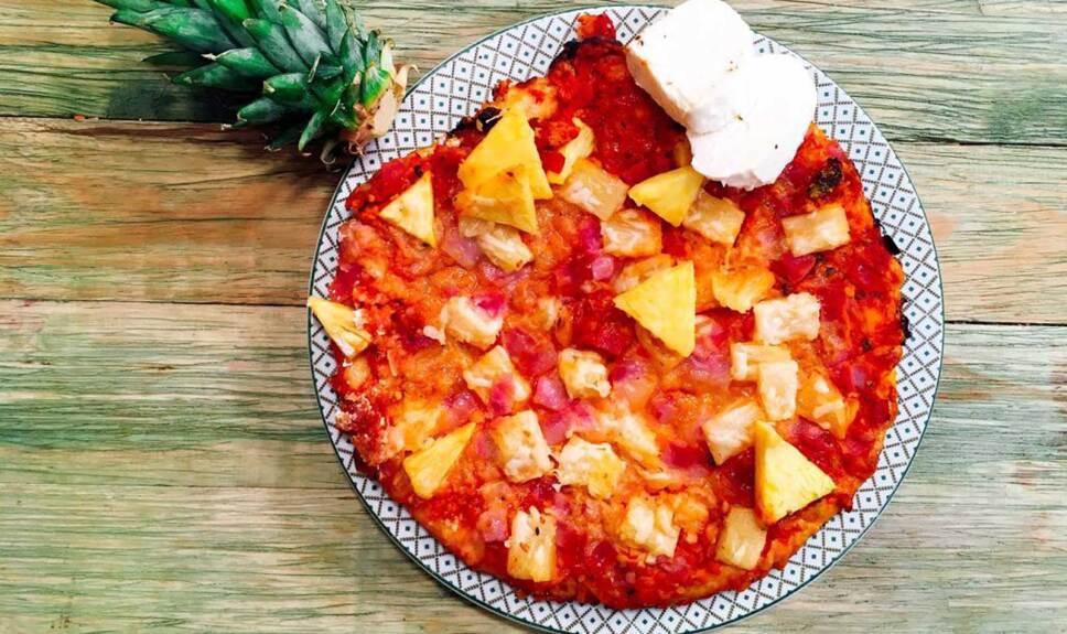 Receta Pizza Hawaiana Cocineros Mexicanos