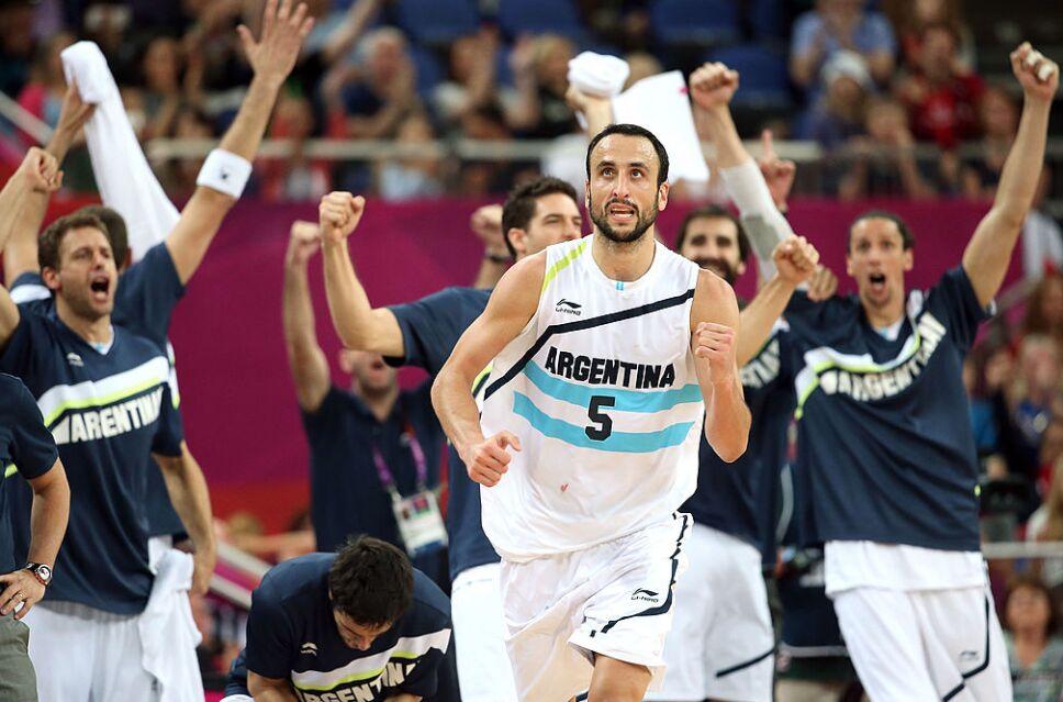 Ginóbili fue campeón Olímpico con Argentina