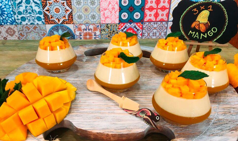 Receta Pastel 100 mango