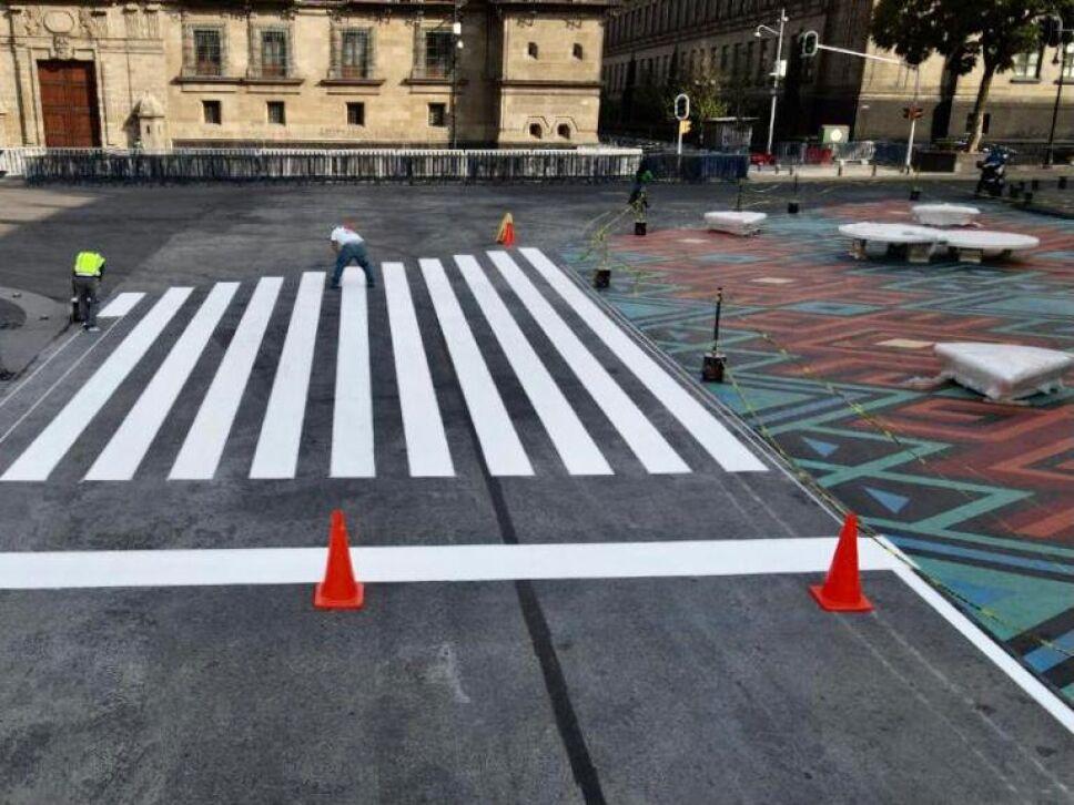Así luce el Zócalo peatonal de la CDMX inspirado en Tenochtitlán