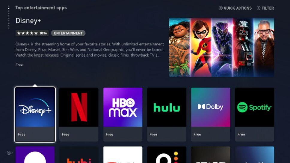 aplicaciones de streaming de Xbox Series X y S