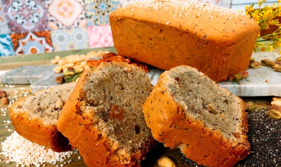 Panqué de frutos secos libre de gluten