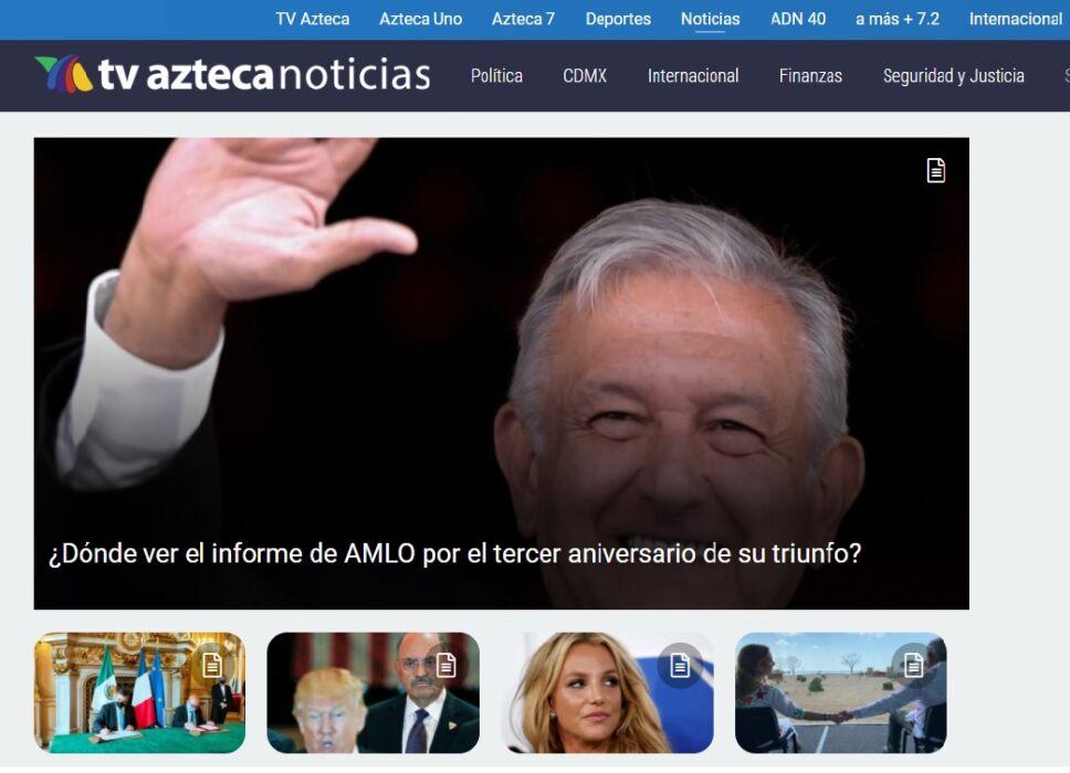 Portal de Azteca Noticias