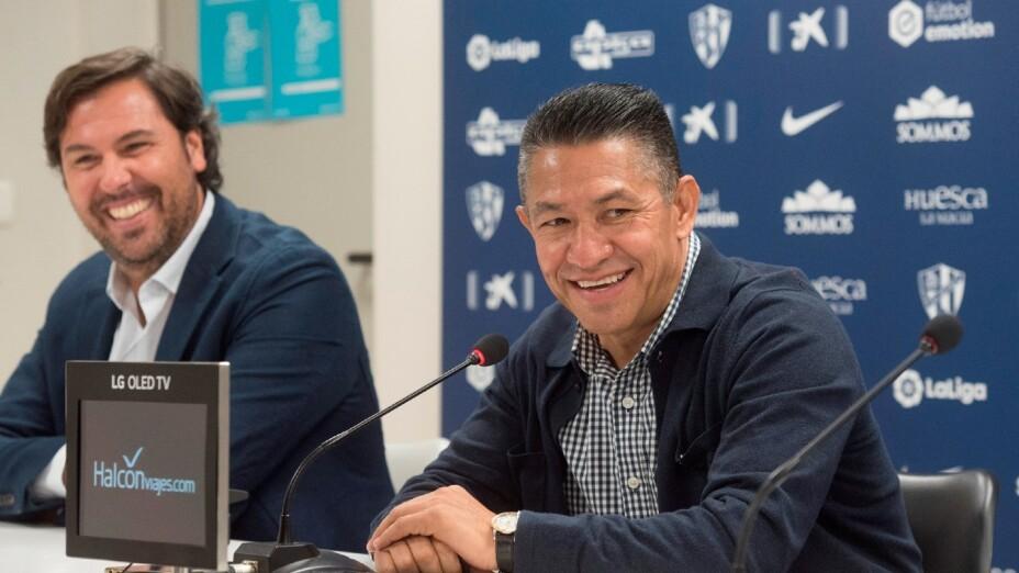 Ignacio Ambriz, en su presentación con el Huesca
