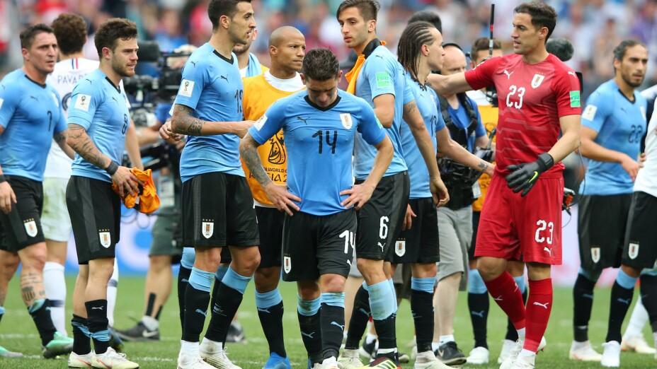 Lucas Torreira con Uruguay