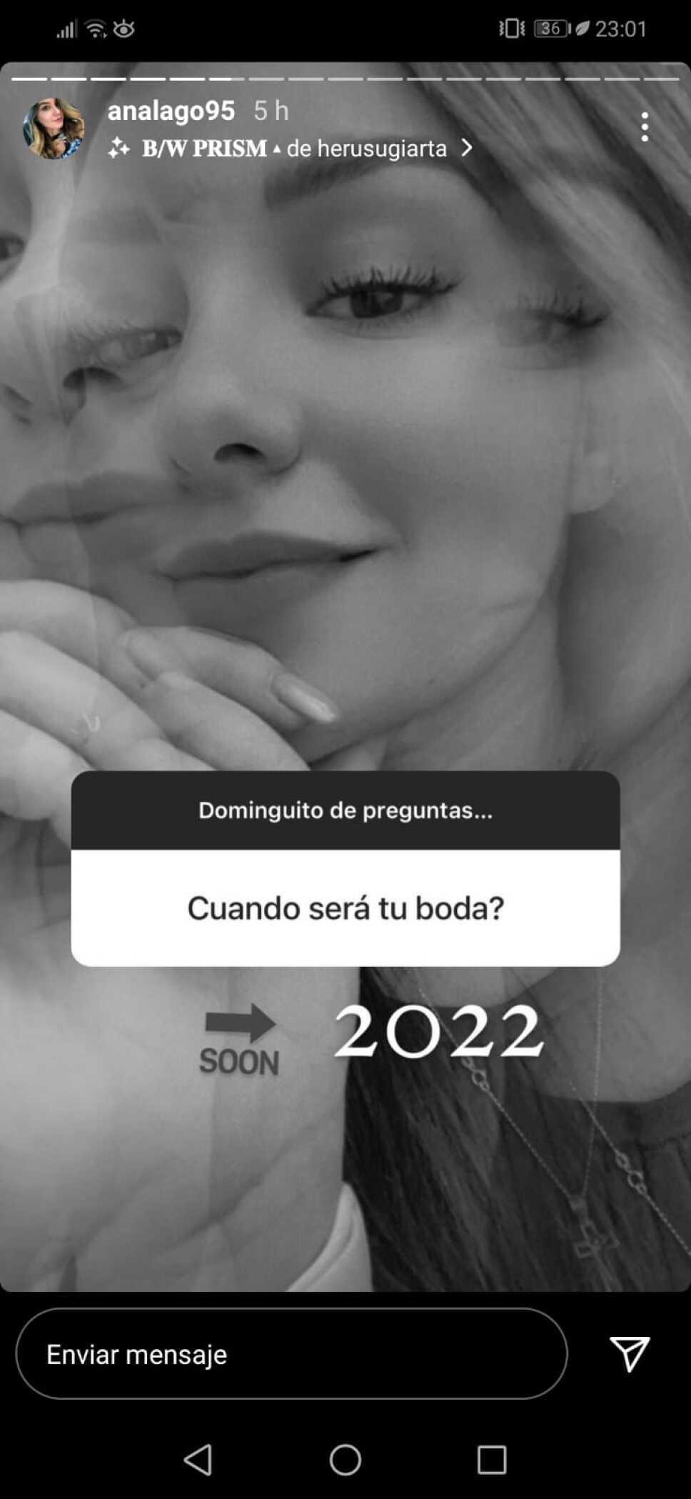 Exatlón Ana Lago revela la fecha de su boda. (FOTO)