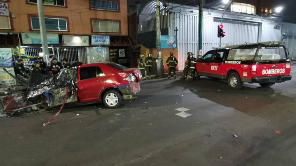 Accidente en Iztapalapa