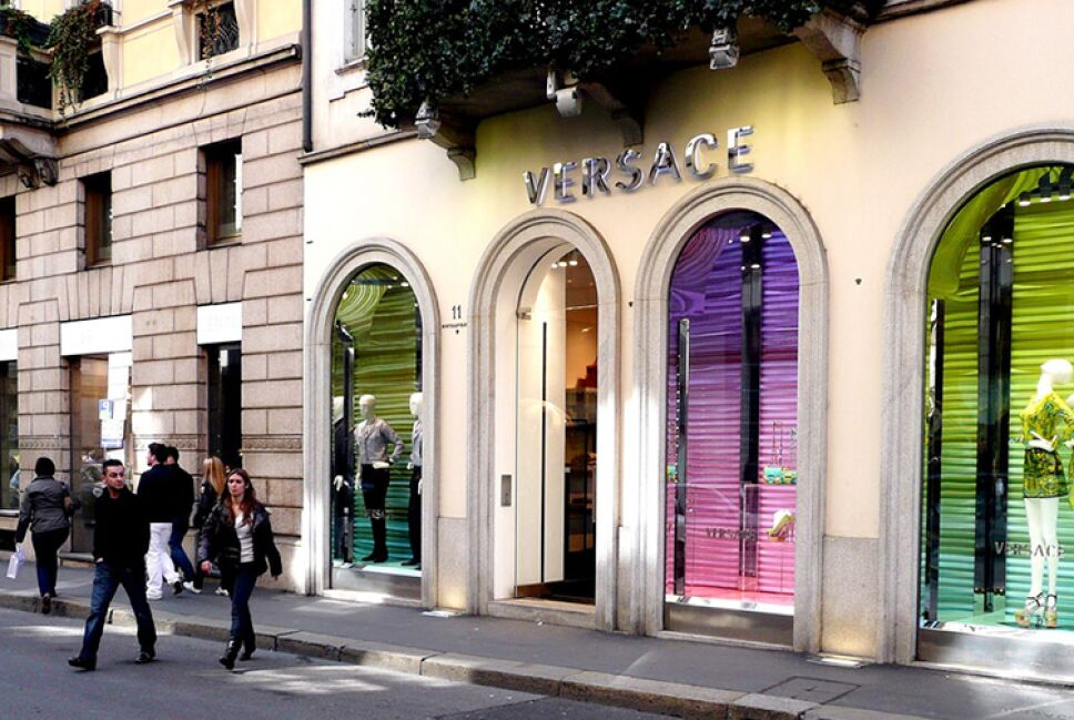 Tienda de Versace en Milán / Foto: Pinterest