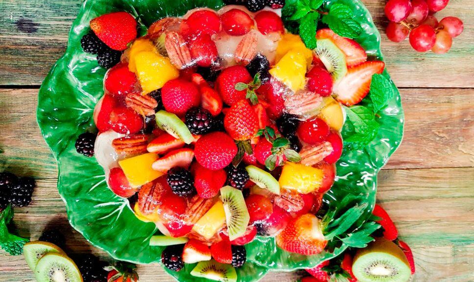 Gelatina cristal con frutas