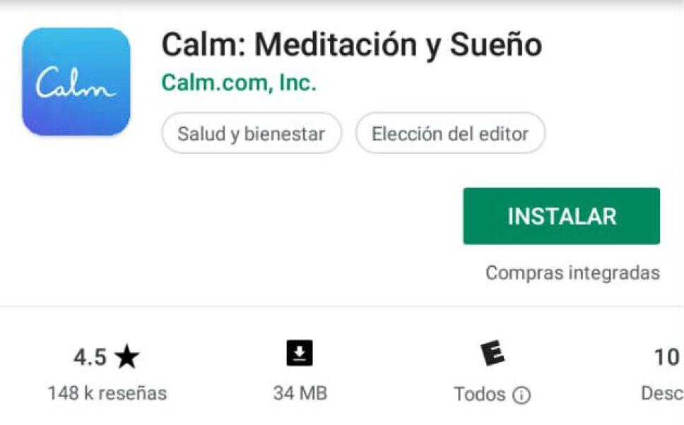 calmm una aplicacion para meditar