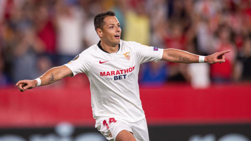 Gol de 'Chicharito' le dio el triunfo a Sevilla en Europa League