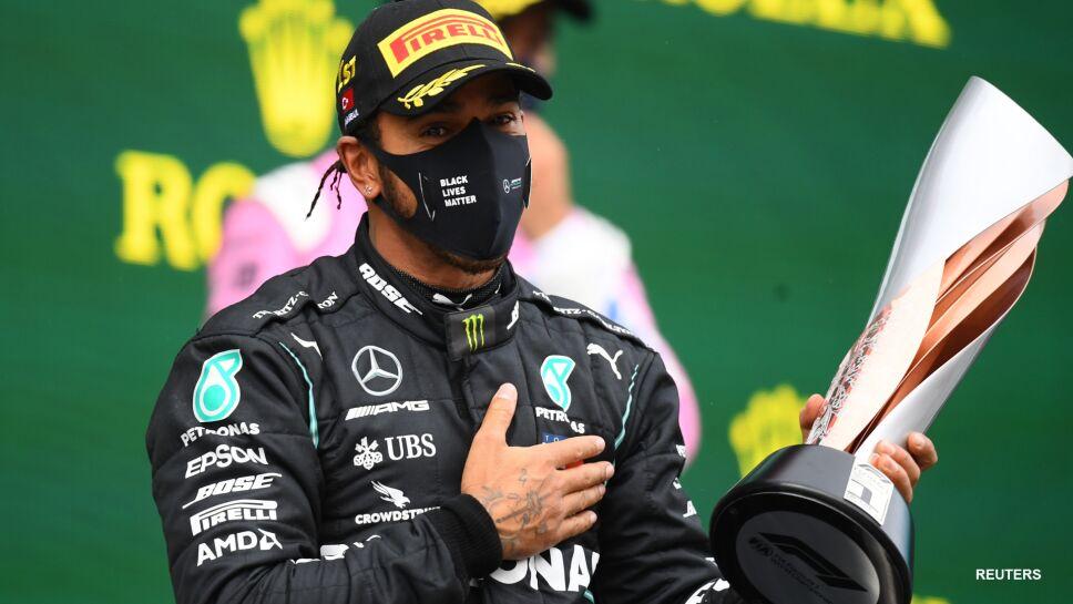 Lewis Hamilton celebra el título