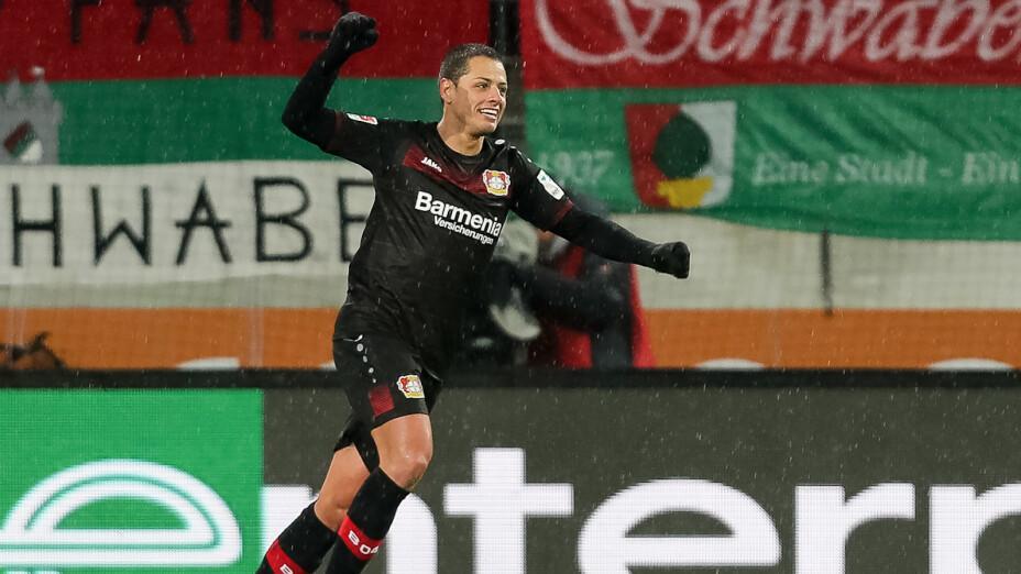 Chicharito en el Leverkusen