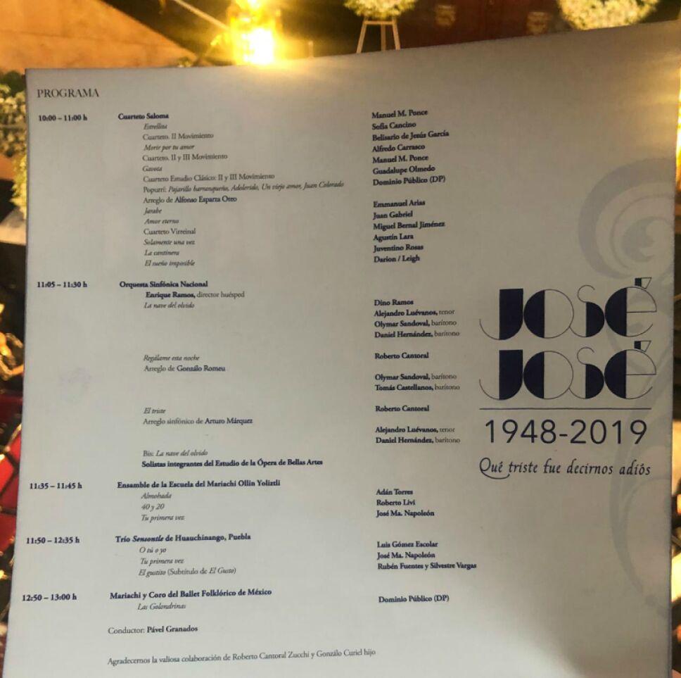 programa homenaje jose jose