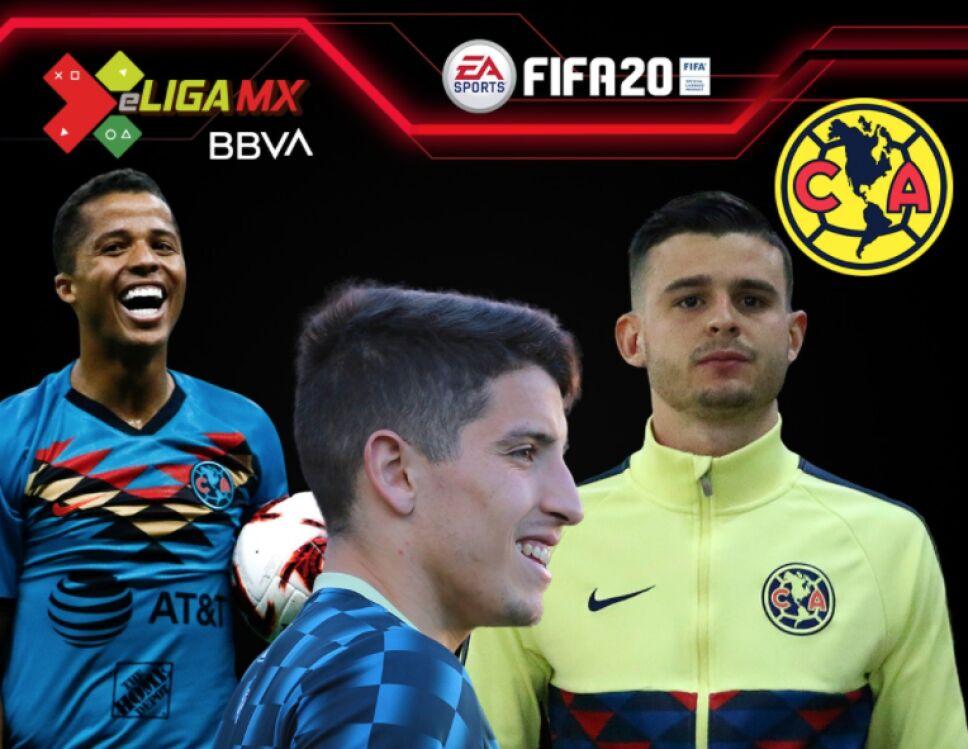 Los jugadores del América para la e Liga MX
