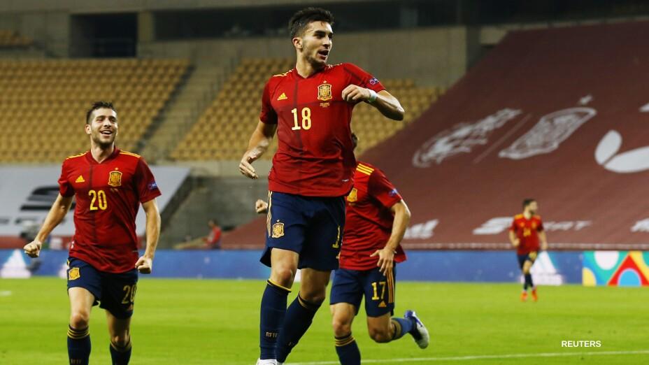 Ferran Torres con la selección de España