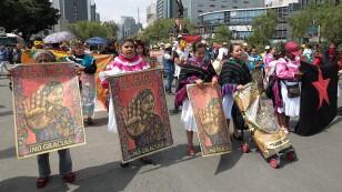 Marcha contra megaproyectos federales