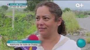 Grieta en #Chalco.