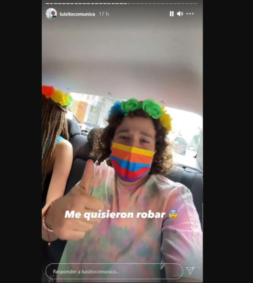 Luisito Comunica indicó en su cuenta de Instagram que intentaron robarle su celular durante la Marcha LGBTQ+ en CDMX