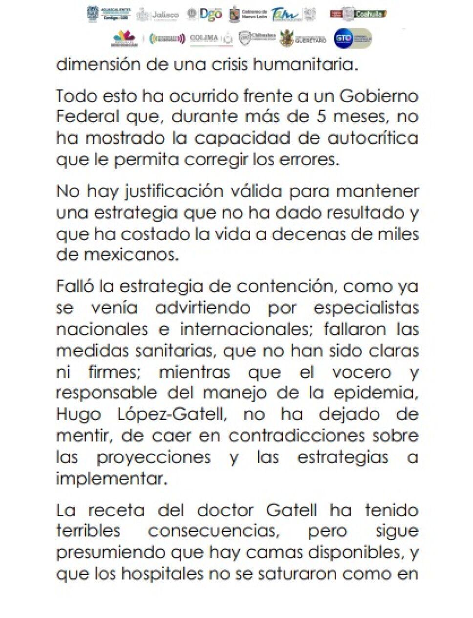 Exigen gobernadores renuncia inmediata de López-Gatell (2)