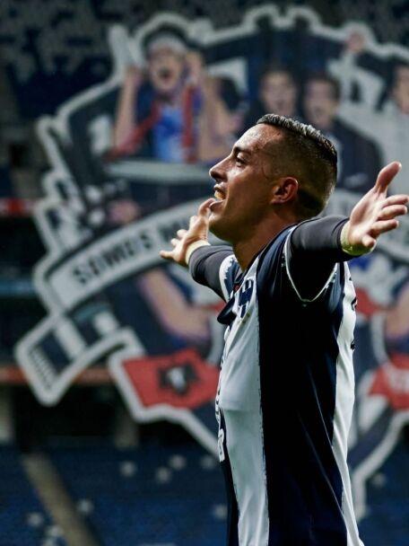 Funes Mori celebra un gol con Monterrey