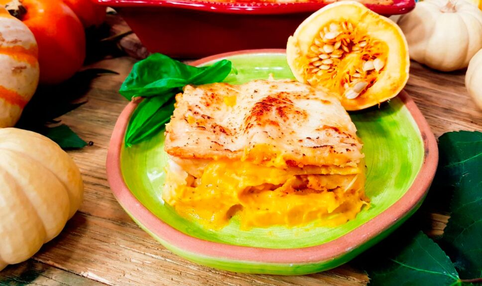 Lasagna de calabaza sin carne