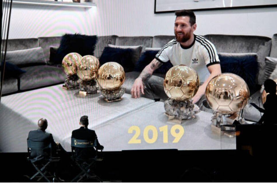 Messi en el Balón D'Or