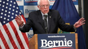 FILE PHOTO: Democratic U.S. presidential candidate Bernie Sanders speaks about coronavirus in Burlington