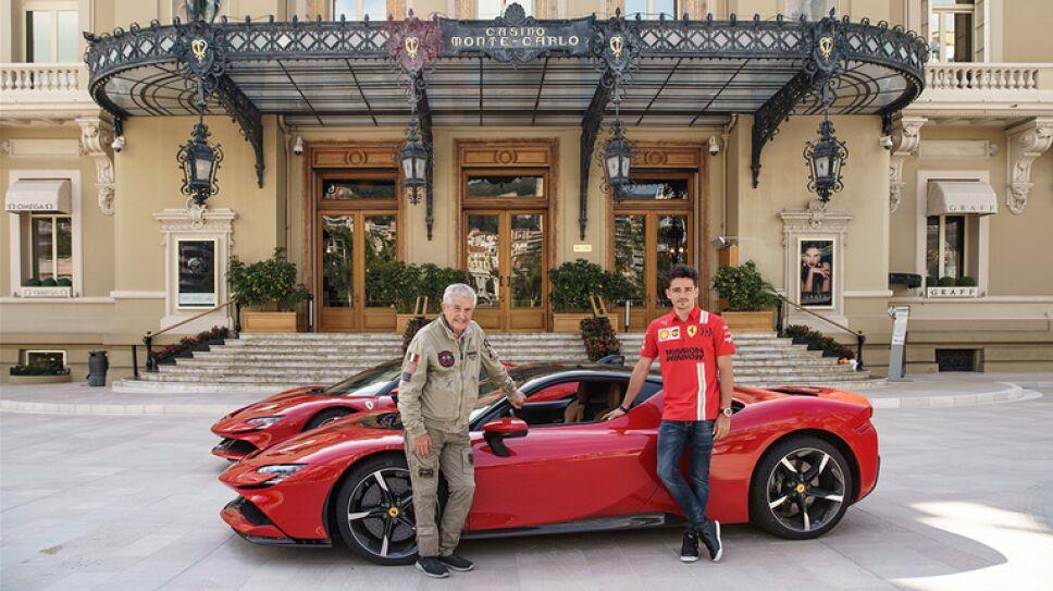 Ferrari SF90 Stradale, Claude Lelouch y Charles Leclerc