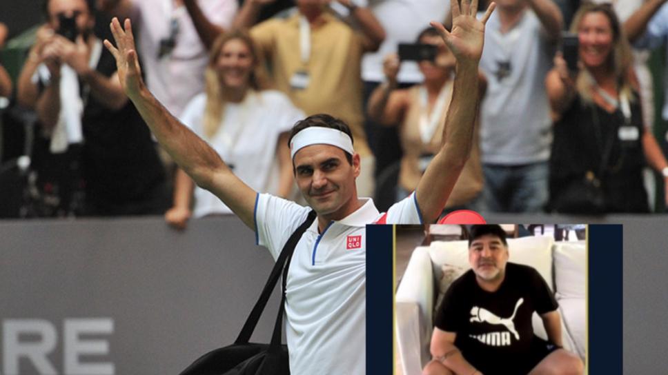 Maradona y Federer