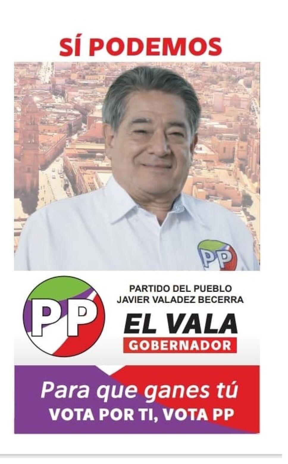 Javier Valadez Becerra cadidato a gubernatura de Zacatecas por el Partido del Pueblo.