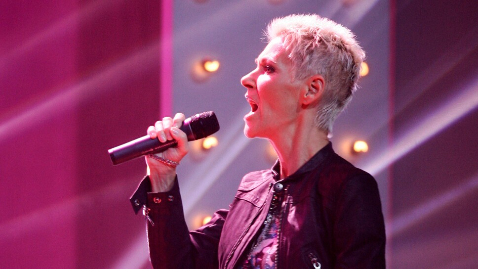 FILE PHOTO: Marie of Roxette performs during a TV show in Hamburg