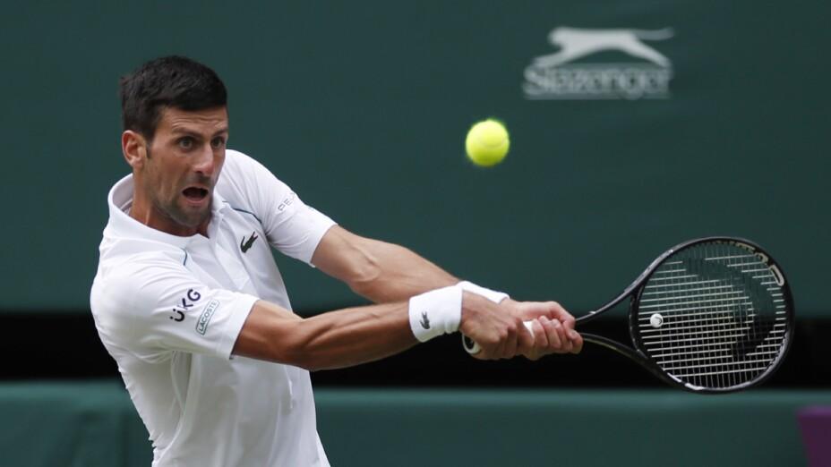 Novak Djokovic en semifinales en Wimbledon