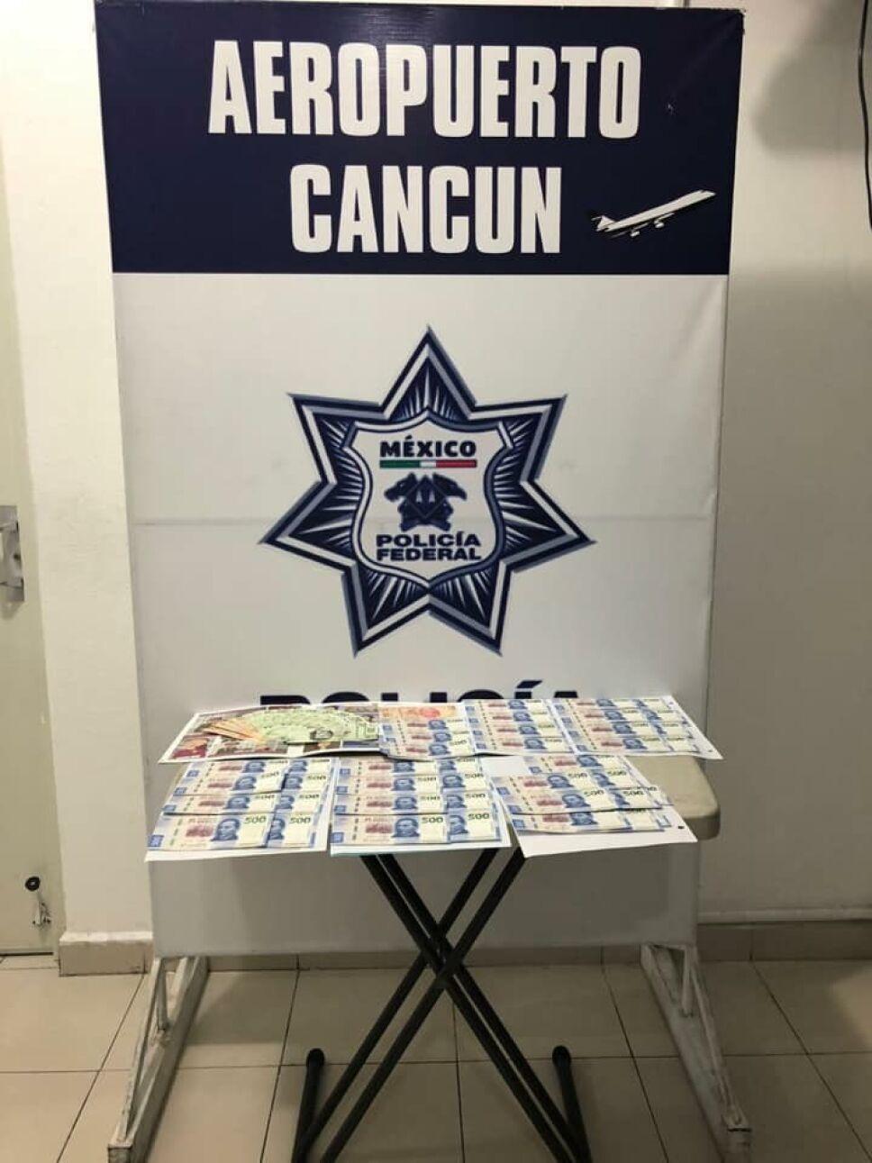 Billetes falsos en Cancún