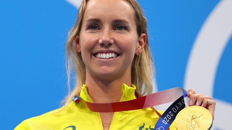 Emma McKeon, con la medalla de oro en Tokyo 2020