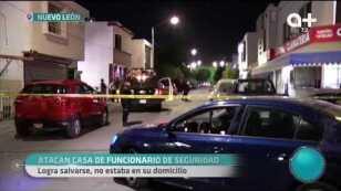 Atacan casa de un funcionario de seguridad , logra salvarse.