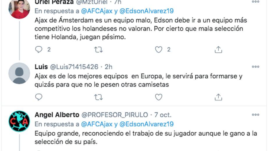 Afición mexicana defiende a Edson Álvarez