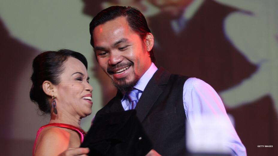 Dionesia Dapidran y Manny Pacquiao