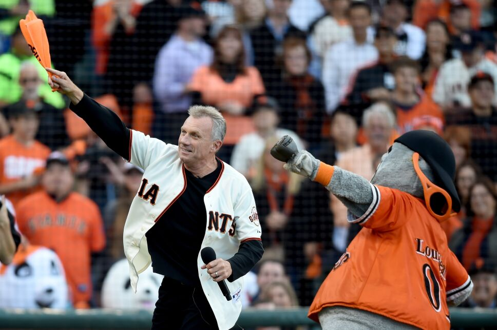 Lou Seal y Joe Montana