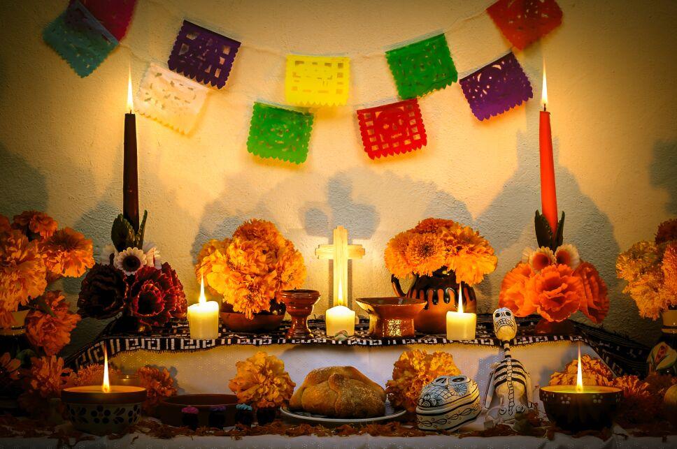 "Mexican day of the dead altar ""Dia de Muertos"""