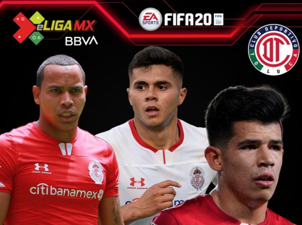 los jugadores de Toluca para la e Liga MX